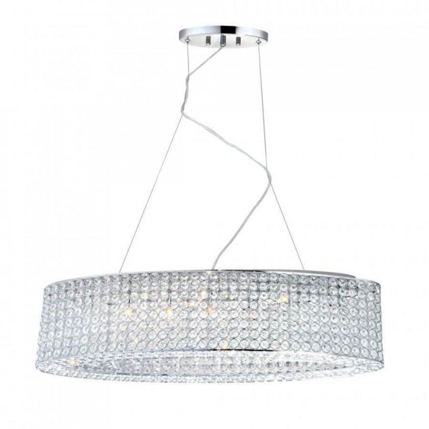Lustra LED moderna design elegant Emilia 7L 67015-7HL GL, Pendule, Lustre suspendate, Corpuri de iluminat, lustre, aplice, veioze, lampadare, plafoniere. Mobilier si decoratiuni, oglinzi, scaune, fotolii. Oferte speciale iluminat interior si exterior. Livram in toata tara.  a