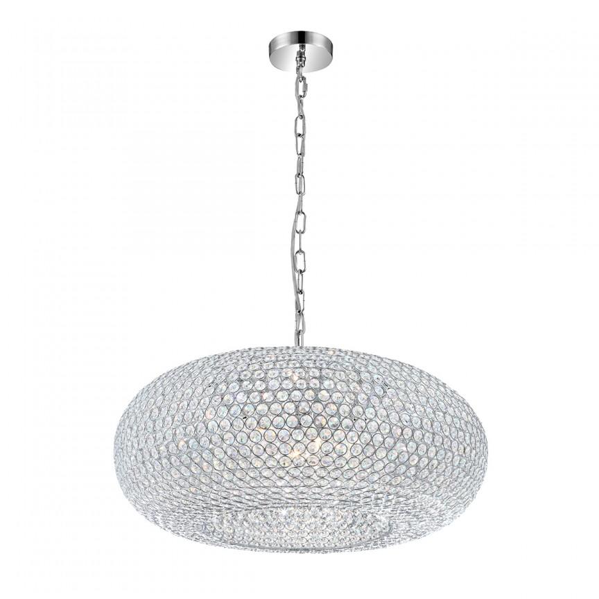 Lustra LED moderna design elegant Emilia 9L 67017-9HL GL, Pendule, Lustre suspendate, Corpuri de iluminat, lustre, aplice, veioze, lampadare, plafoniere. Mobilier si decoratiuni, oglinzi, scaune, fotolii. Oferte speciale iluminat interior si exterior. Livram in toata tara.  a