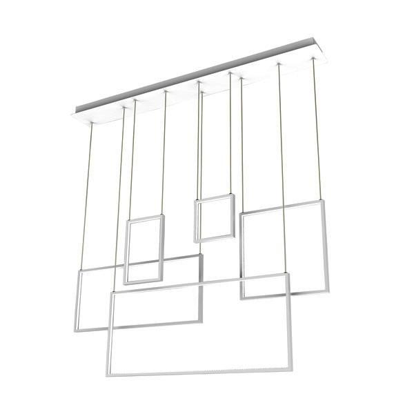 Lustra moderna cu pendule LED suspendate RECTAN L171209-5 ZL, Pendule, Lustre suspendate, Corpuri de iluminat, lustre, aplice, veioze, lampadare, plafoniere. Mobilier si decoratiuni, oglinzi, scaune, fotolii. Oferte speciale iluminat interior si exterior. Livram in toata tara.  a