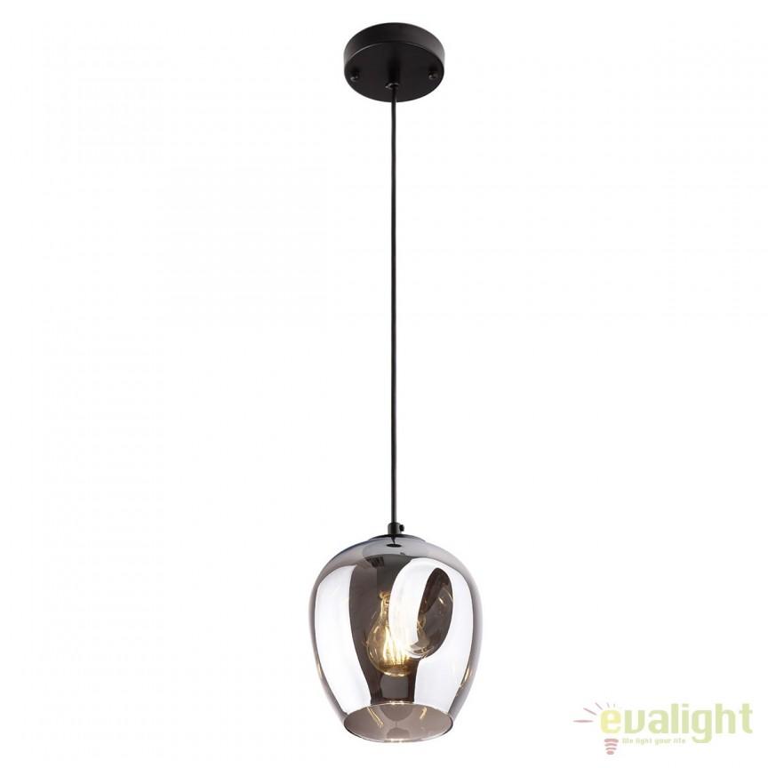 Pendul design modern Spirit fumuriu P0289 MX, Pendule, Lustre suspendate, Corpuri de iluminat, lustre, aplice, veioze, lampadare, plafoniere. Mobilier si decoratiuni, oglinzi, scaune, fotolii. Oferte speciale iluminat interior si exterior. Livram in toata tara.  a