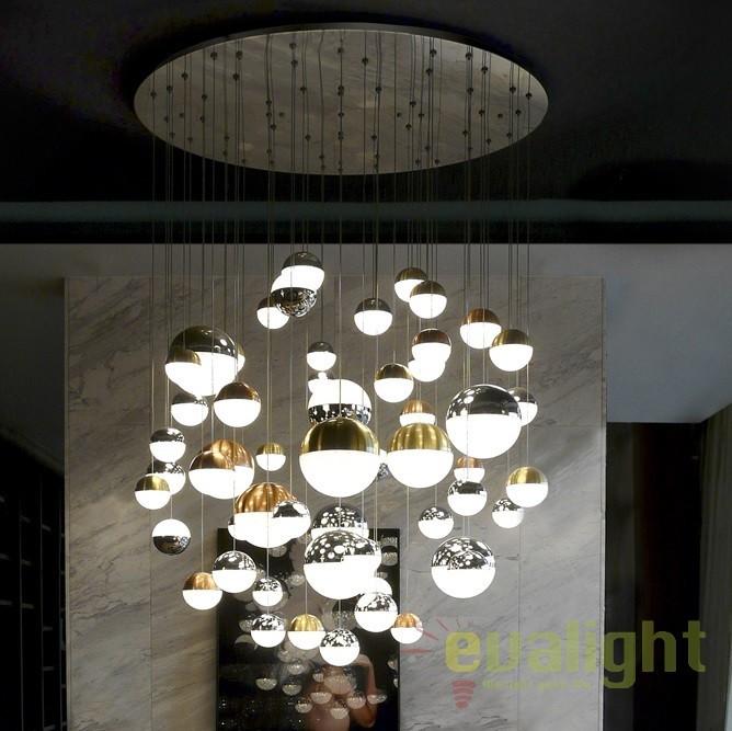 Lustra casa scarii / Candelabru XXL LED design modern Sphere 55L SV-794691, Lustre casa scarii, Corpuri de iluminat, lustre, aplice, veioze, lampadare, plafoniere. Mobilier si decoratiuni, oglinzi, scaune, fotolii. Oferte speciale iluminat interior si exterior. Livram in toata tara.  a