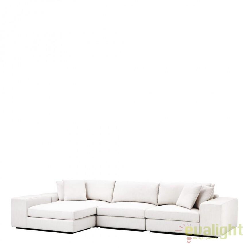 Coltar design elegant LUX Vista Grande alb 112563 HZ, Canapele - Coltare, Corpuri de iluminat, lustre, aplice, veioze, lampadare, plafoniere. Mobilier si decoratiuni, oglinzi, scaune, fotolii. Oferte speciale iluminat interior si exterior. Livram in toata tara.  a