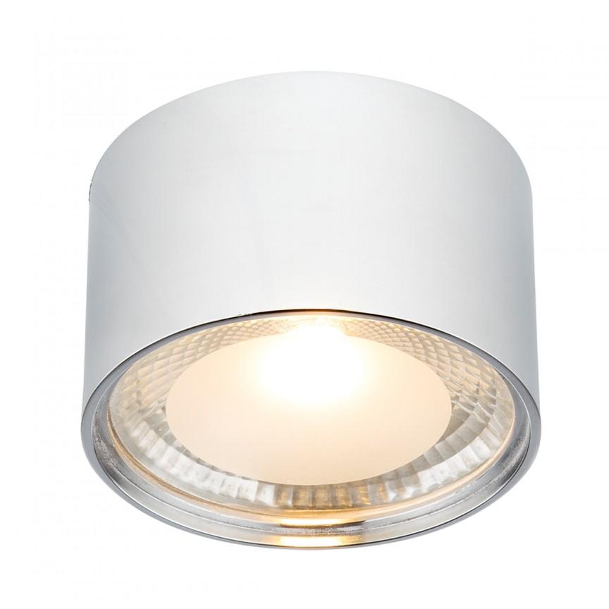 Plafoniera LED / Spot aplicat SERENA, Ø11cm crom 12007C GL, Spoturi aplicate - tavan / perete, Corpuri de iluminat, lustre, aplice, veioze, lampadare, plafoniere. Mobilier si decoratiuni, oglinzi, scaune, fotolii. Oferte speciale iluminat interior si exterior. Livram in toata tara.  a