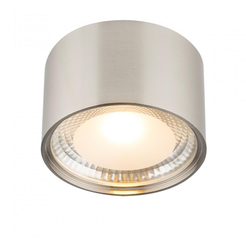Plafoniera LED / Spot aplicat SERENA, Ø11cm nickel mat 12007N GL, Spoturi aplicate - tavan / perete, Corpuri de iluminat, lustre, aplice, veioze, lampadare, plafoniere. Mobilier si decoratiuni, oglinzi, scaune, fotolii. Oferte speciale iluminat interior si exterior. Livram in toata tara.  a
