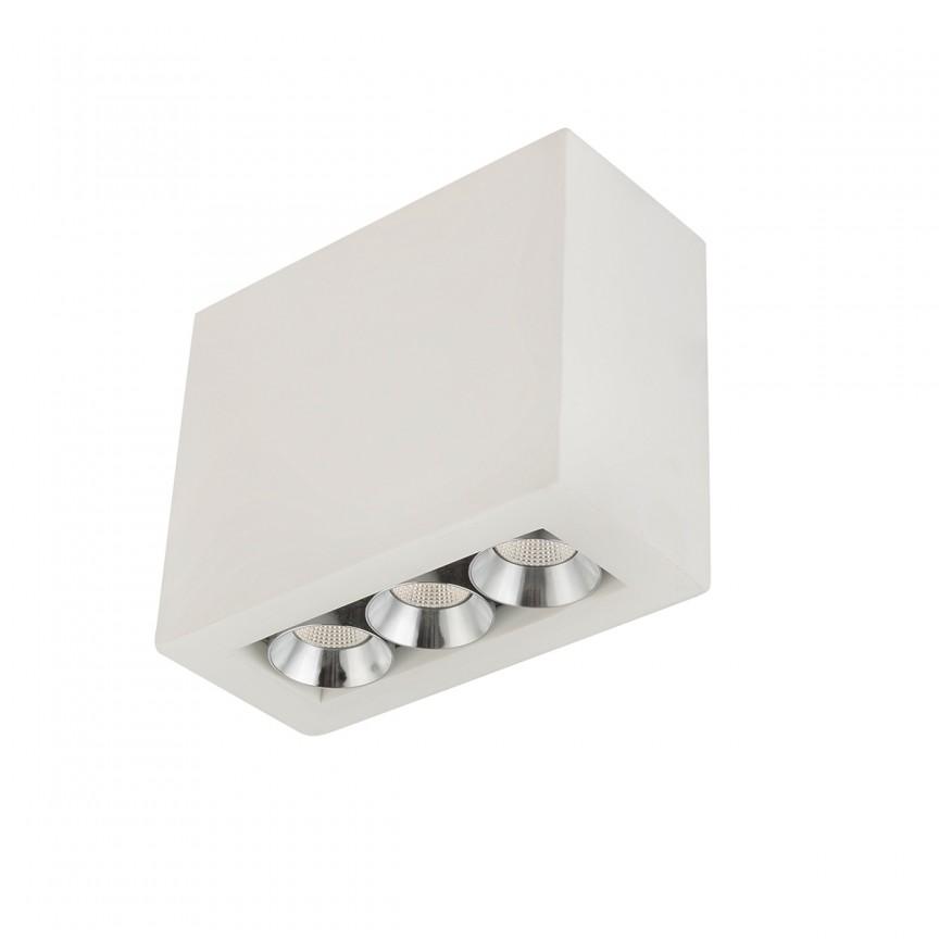 Spot LED aplicat modern CHRISTINE 55010-3A GL, Spoturi aplicate - tavan / perete, Corpuri de iluminat, lustre, aplice, veioze, lampadare, plafoniere. Mobilier si decoratiuni, oglinzi, scaune, fotolii. Oferte speciale iluminat interior si exterior. Livram in toata tara.  a
