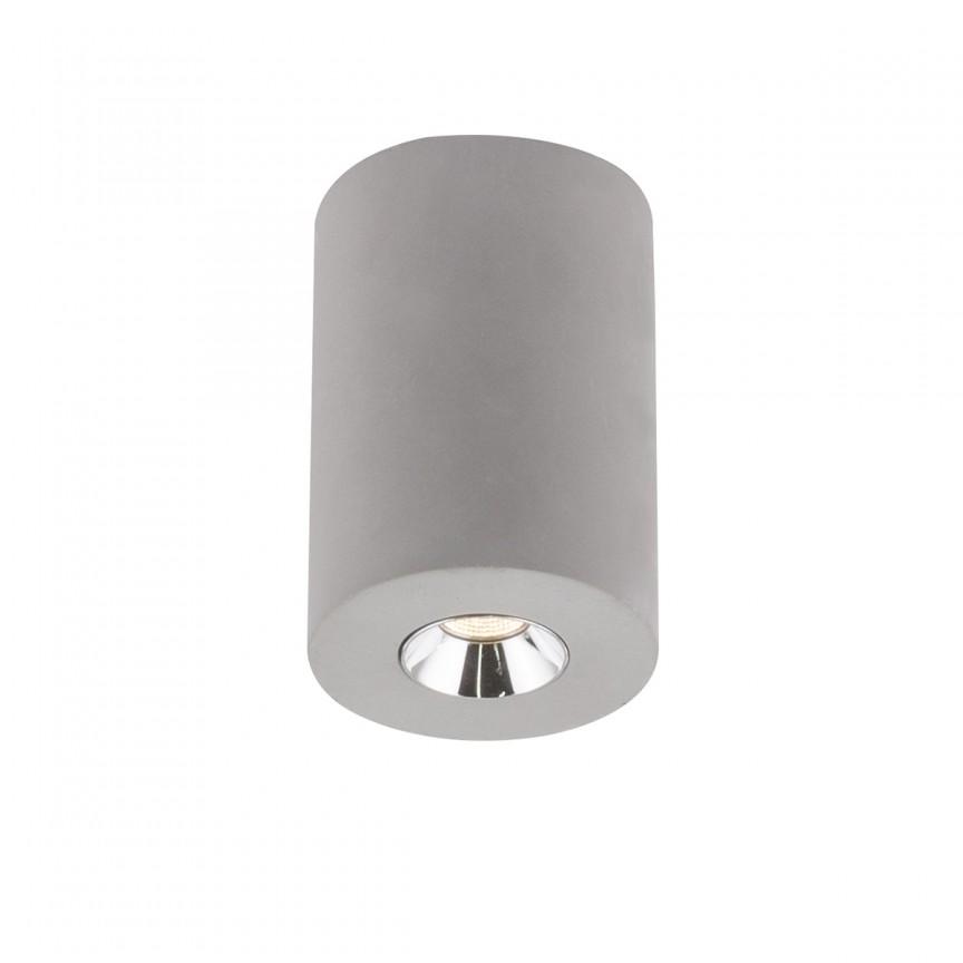 Spot LED aplicat modern Timo, Ø7,5cm gri 55011-1A GL, Spoturi LED incastrate, aplicate, Corpuri de iluminat, lustre, aplice, veioze, lampadare, plafoniere. Mobilier si decoratiuni, oglinzi, scaune, fotolii. Oferte speciale iluminat interior si exterior. Livram in toata tara.  a