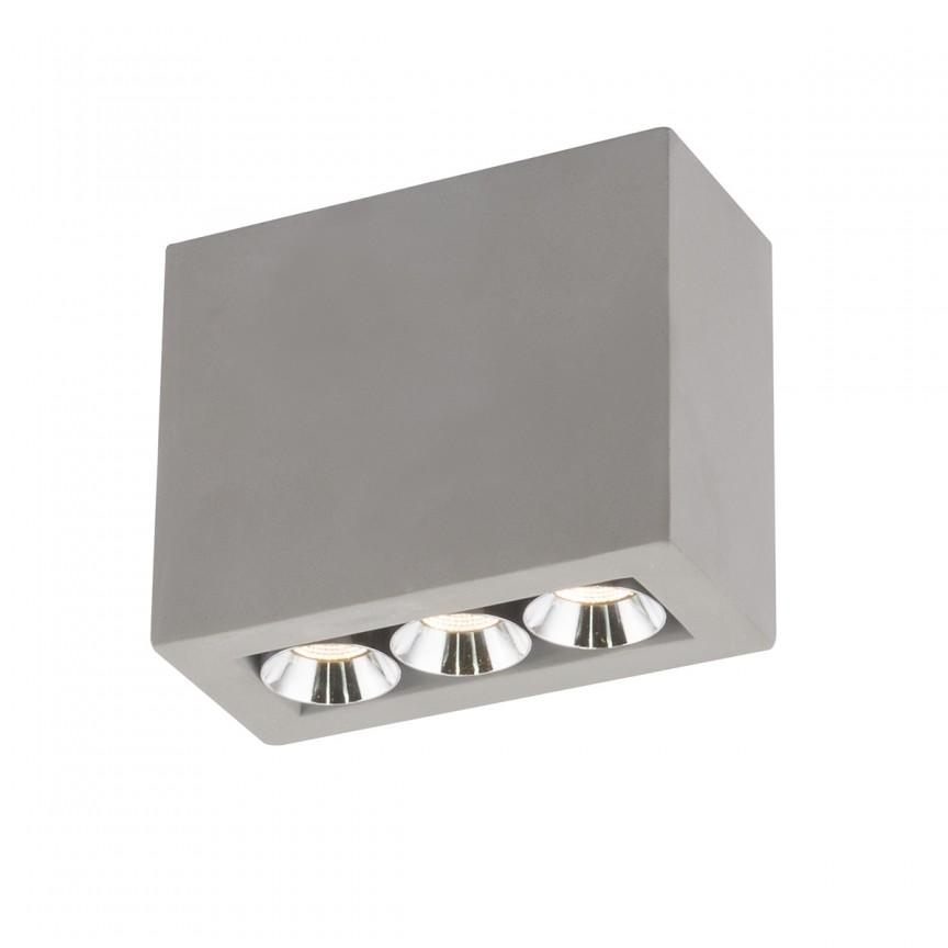 Spot LED aplicat modern Timo 55011-3A GL, Spoturi aplicate - tavan / perete, Corpuri de iluminat, lustre, aplice, veioze, lampadare, plafoniere. Mobilier si decoratiuni, oglinzi, scaune, fotolii. Oferte speciale iluminat interior si exterior. Livram in toata tara.  a