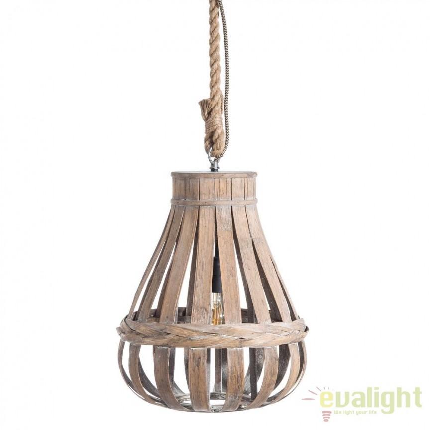 Lustra design rustic Bambu, 35cm SX-104094, ILUMINAT INTERIOR RUSTIC, Corpuri de iluminat, lustre, aplice, veioze, lampadare, plafoniere. Mobilier si decoratiuni, oglinzi, scaune, fotolii. Oferte speciale iluminat interior si exterior. Livram in toata tara.  a