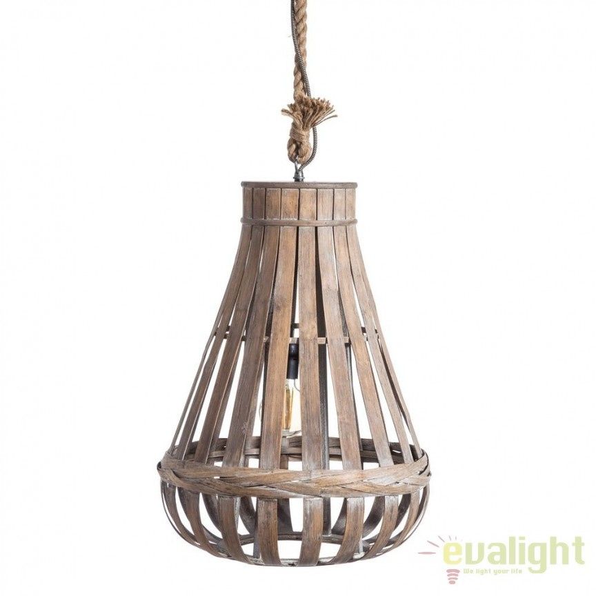 Lustra design rustic Bambu, 45cm SX-104095, ILUMINAT INTERIOR RUSTIC, Corpuri de iluminat, lustre, aplice, veioze, lampadare, plafoniere. Mobilier si decoratiuni, oglinzi, scaune, fotolii. Oferte speciale iluminat interior si exterior. Livram in toata tara.  a
