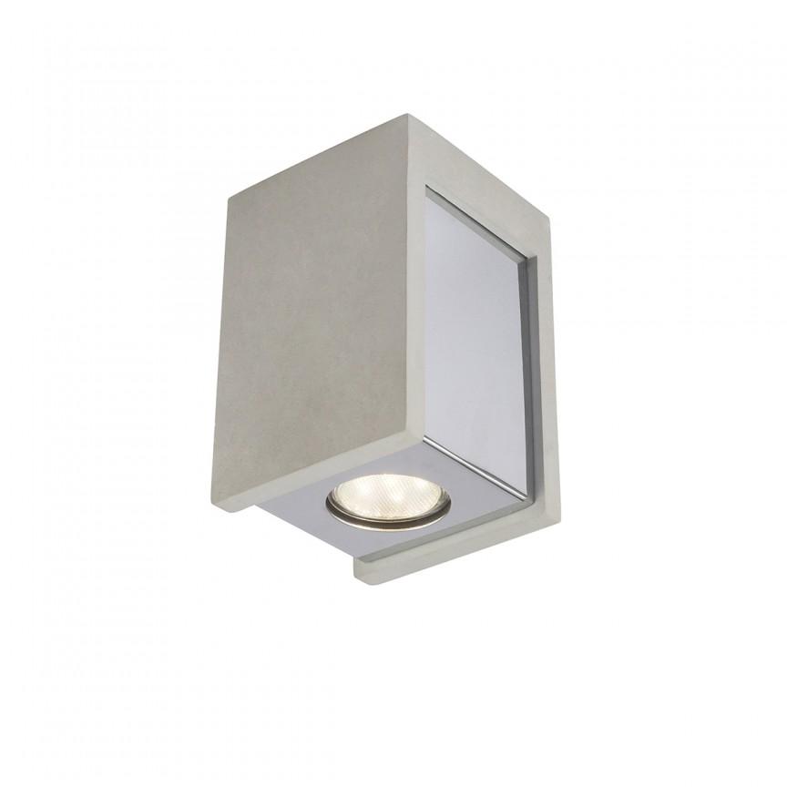 Spot aplicat modern Timo 1L 55011-1D GL, Spoturi aplicate - tavan / perete, Corpuri de iluminat, lustre, aplice, veioze, lampadare, plafoniere. Mobilier si decoratiuni, oglinzi, scaune, fotolii. Oferte speciale iluminat interior si exterior. Livram in toata tara.  a
