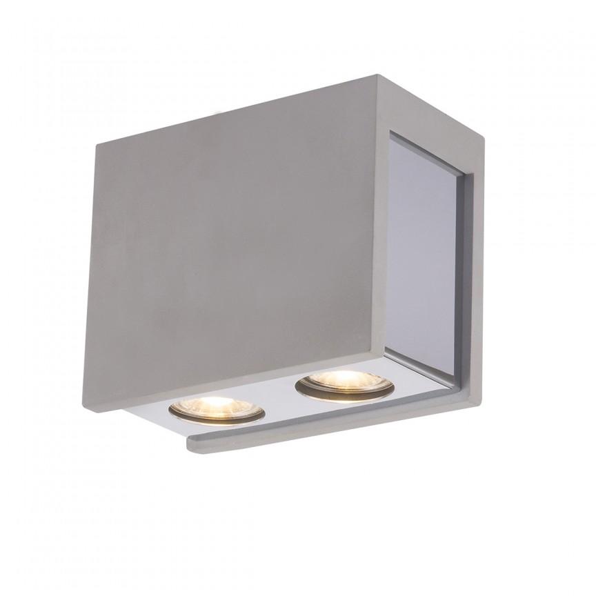 Spot aplicat modern Timo 2L 55011-2D GL, Spoturi aplicate - tavan / perete, Corpuri de iluminat, lustre, aplice, veioze, lampadare, plafoniere. Mobilier si decoratiuni, oglinzi, scaune, fotolii. Oferte speciale iluminat interior si exterior. Livram in toata tara.  a