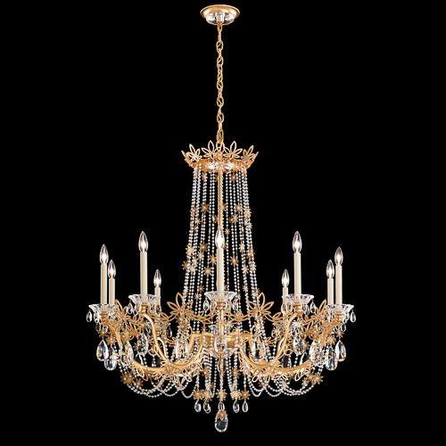 Candelabru 10 brate, design LUX, cristal Heritage Florabella,  a