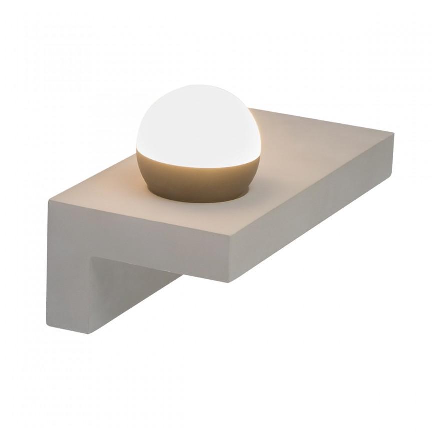 Aplica perete LED design modern cu raft TIMO 55011-W3 GL, Aplice de perete LED, Corpuri de iluminat, lustre, aplice, veioze, lampadare, plafoniere. Mobilier si decoratiuni, oglinzi, scaune, fotolii. Oferte speciale iluminat interior si exterior. Livram in toata tara.  a