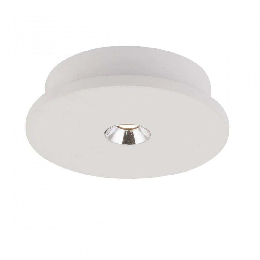 Spot LED aplicat modern CHRISTINE Ø16cm 55010-1 GL, Spoturi aplicate - tavan / perete, Corpuri de iluminat, lustre, aplice, veioze, lampadare, plafoniere. Mobilier si decoratiuni, oglinzi, scaune, fotolii. Oferte speciale iluminat interior si exterior. Livram in toata tara.  a