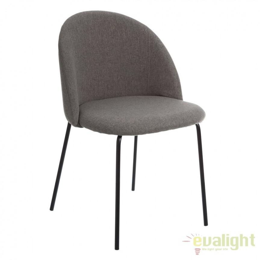 Set de 2 scaune tapitate MODERNO, gri SX-105387, Seturi scaune dining, scaune HoReCa, Corpuri de iluminat, lustre, aplice, veioze, lampadare, plafoniere. Mobilier si decoratiuni, oglinzi, scaune, fotolii. Oferte speciale iluminat interior si exterior. Livram in toata tara.  a