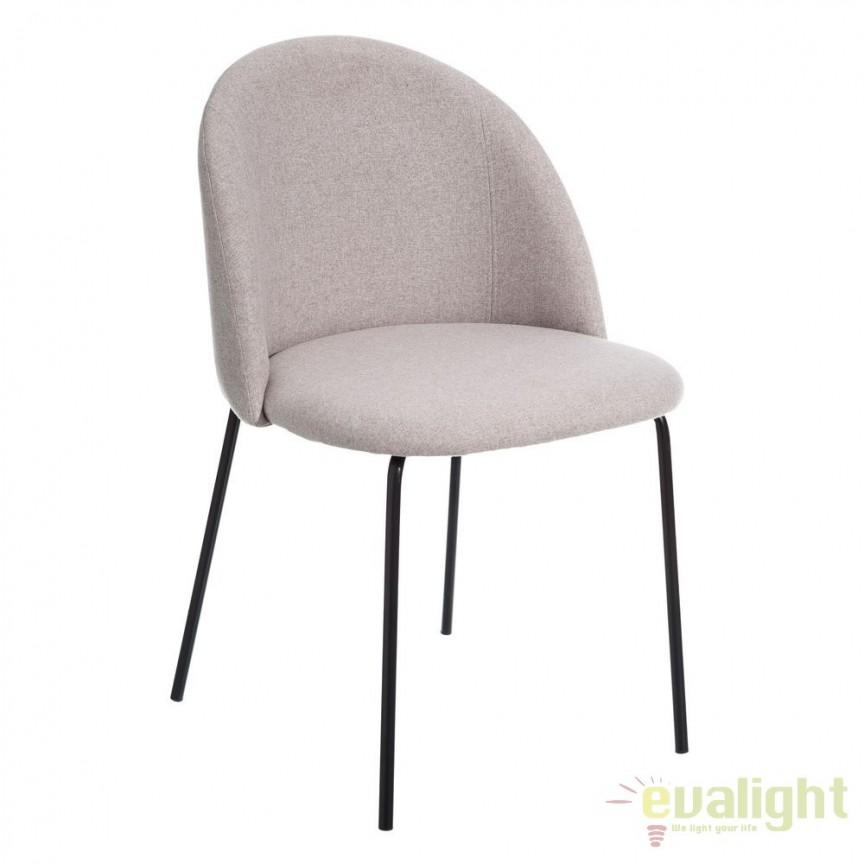 Set de 2 scaune tapitate MODERNO, bej SX-105388, Seturi scaune dining, scaune HoReCa, Corpuri de iluminat, lustre, aplice, veioze, lampadare, plafoniere. Mobilier si decoratiuni, oglinzi, scaune, fotolii. Oferte speciale iluminat interior si exterior. Livram in toata tara.  a