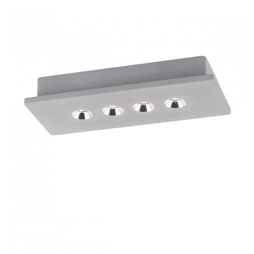 Plafoniera LED tip spot aplicat modern TIMO 4 55011-4 GL, Spoturi aplicate - tavan / perete, Corpuri de iluminat, lustre, aplice, veioze, lampadare, plafoniere. Mobilier si decoratiuni, oglinzi, scaune, fotolii. Oferte speciale iluminat interior si exterior. Livram in toata tara.  a