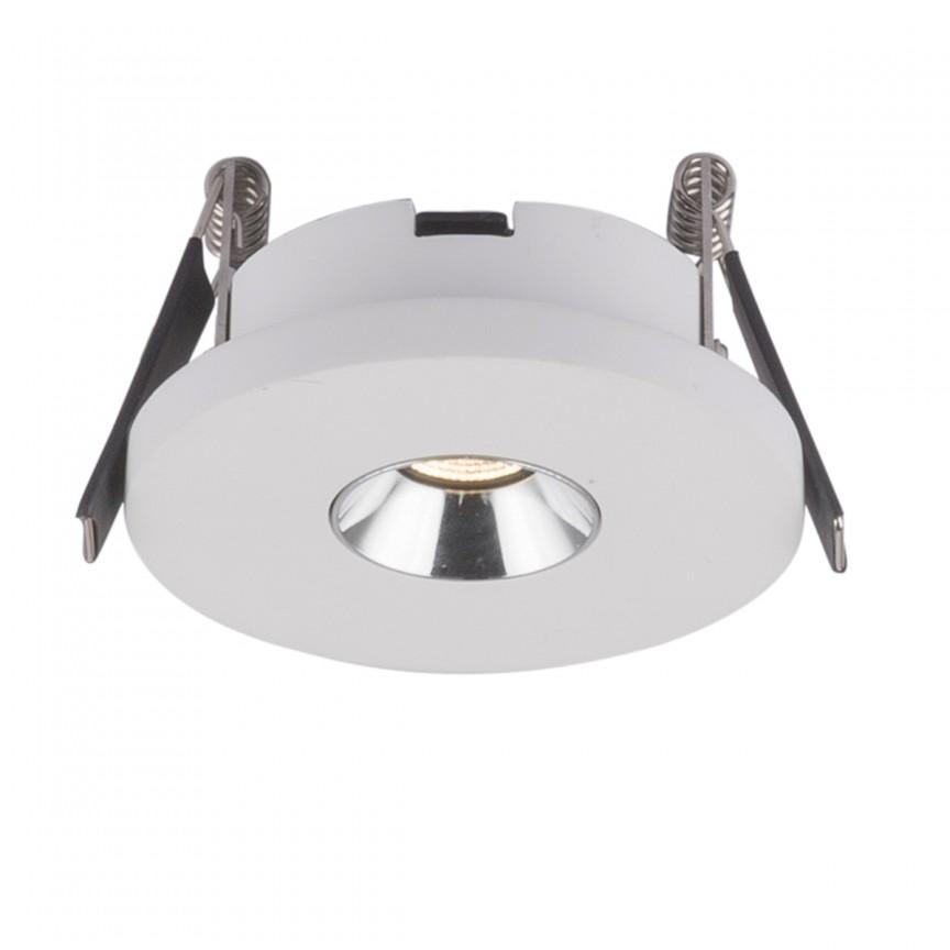 Spot LED incastrabil modern CHRISTINE Ø9cm 55010-1E GL, Spoturi LED incastrate, aplicate, Corpuri de iluminat, lustre, aplice, veioze, lampadare, plafoniere. Mobilier si decoratiuni, oglinzi, scaune, fotolii. Oferte speciale iluminat interior si exterior. Livram in toata tara.  a