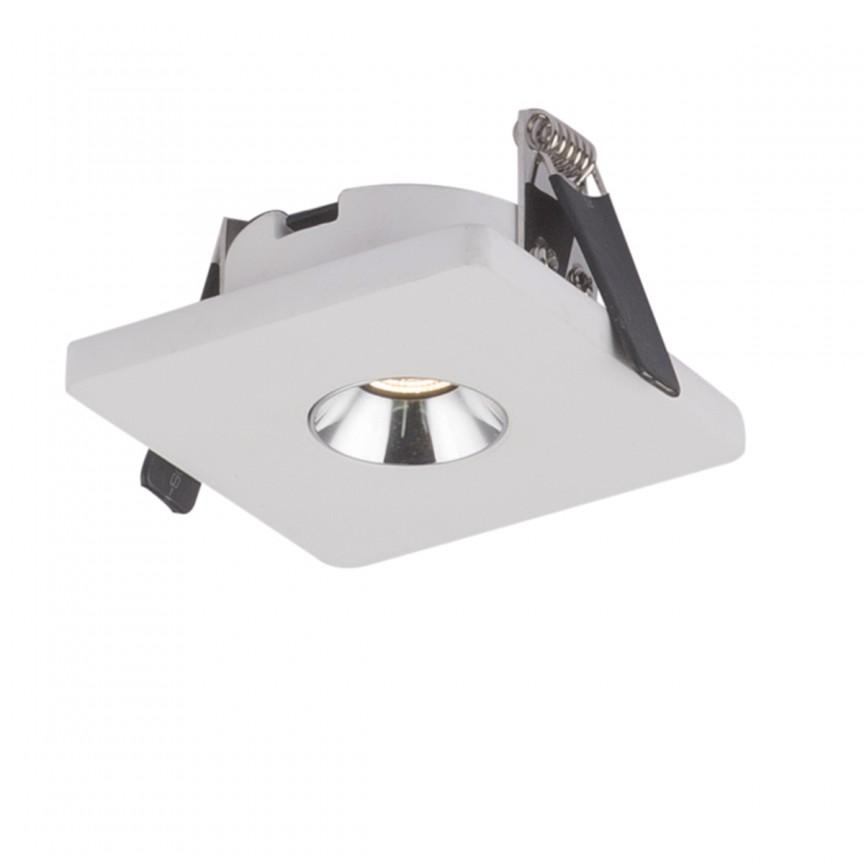 Spot LED incastrabil modern CHRISTINE 9x9cm 55010E GL, Spoturi LED incastrate, aplicate, Corpuri de iluminat, lustre, aplice, veioze, lampadare, plafoniere. Mobilier si decoratiuni, oglinzi, scaune, fotolii. Oferte speciale iluminat interior si exterior. Livram in toata tara.  a