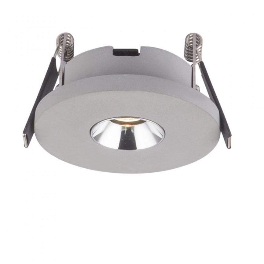 Spot LED incastrabil modern TIMO Ø9cm 55011-1E GL, Spoturi LED incastrate, aplicate, Corpuri de iluminat, lustre, aplice, veioze, lampadare, plafoniere. Mobilier si decoratiuni, oglinzi, scaune, fotolii. Oferte speciale iluminat interior si exterior. Livram in toata tara.  a