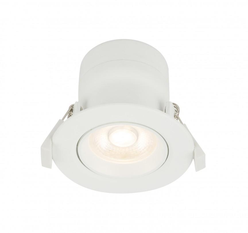 Spot LED incastrabil modern Polly Ø8,5cm 12393-5 GL, Spoturi LED incastrate, aplicate, Corpuri de iluminat, lustre, aplice, veioze, lampadare, plafoniere. Mobilier si decoratiuni, oglinzi, scaune, fotolii. Oferte speciale iluminat interior si exterior. Livram in toata tara.  a