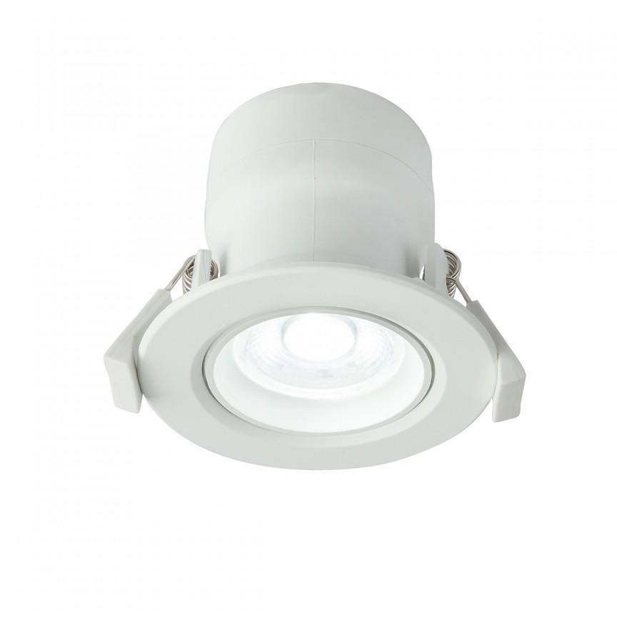 Spot LED incastrabil dimabil Polly Ø8,5cm 12393-9D GL, Spoturi LED incastrate, aplicate, Corpuri de iluminat, lustre, aplice, veioze, lampadare, plafoniere. Mobilier si decoratiuni, oglinzi, scaune, fotolii. Oferte speciale iluminat interior si exterior. Livram in toata tara.  a