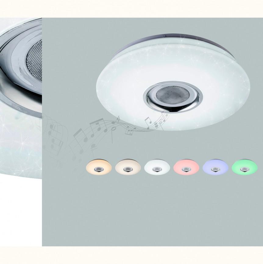 Plafoniera dimabila cu LED RGB, difuzor si telecomanda, diametru 40cm, NICOLE 41329-18 GL, Magazin,  a