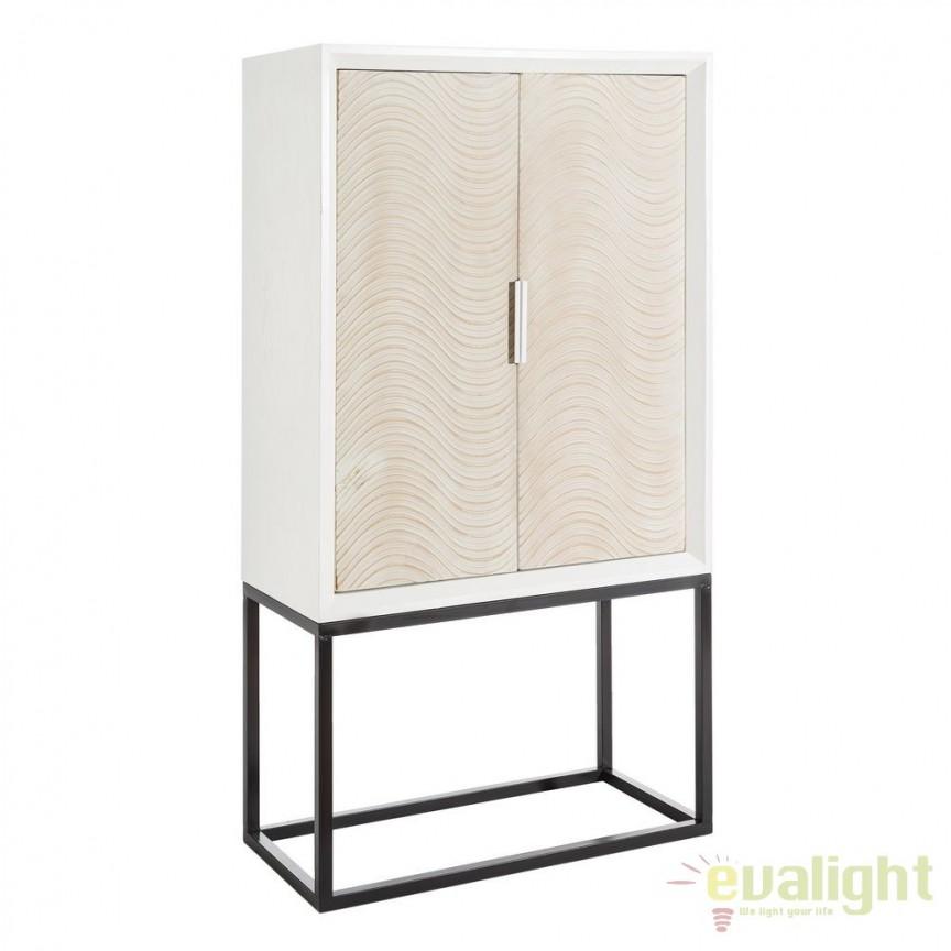 Bufet/ Dulap bar elegant BLANCO-NATURAL SX-106304, PROMOTII, Corpuri de iluminat, lustre, aplice, veioze, lampadare, plafoniere. Mobilier si decoratiuni, oglinzi, scaune, fotolii. Oferte speciale iluminat interior si exterior. Livram in toata tara.  a
