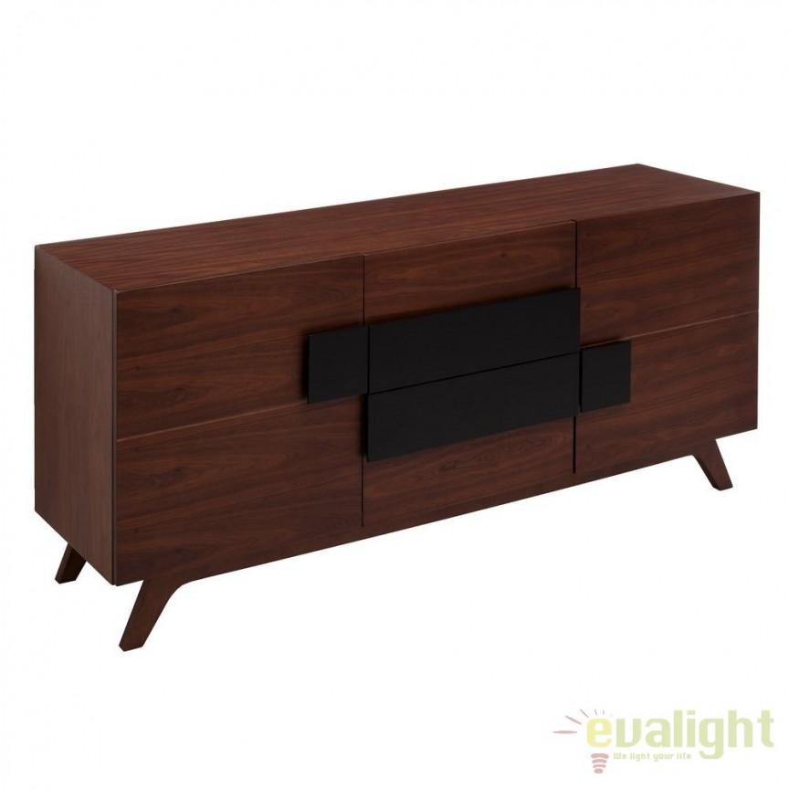 Comoda eleganta din lemn de nuc MODER SX-106601, Dulapuri - Comode, Corpuri de iluminat, lustre, aplice, veioze, lampadare, plafoniere. Mobilier si decoratiuni, oglinzi, scaune, fotolii. Oferte speciale iluminat interior si exterior. Livram in toata tara.  a