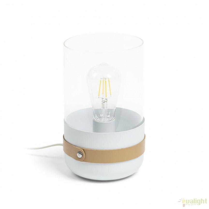 Veioza / Lampa de masa decorativa RAMFORD, alb AA2381R05 JG, Veioze, Lampi de masa, Corpuri de iluminat, lustre, aplice, veioze, lampadare, plafoniere. Mobilier si decoratiuni, oglinzi, scaune, fotolii. Oferte speciale iluminat interior si exterior. Livram in toata tara.  a