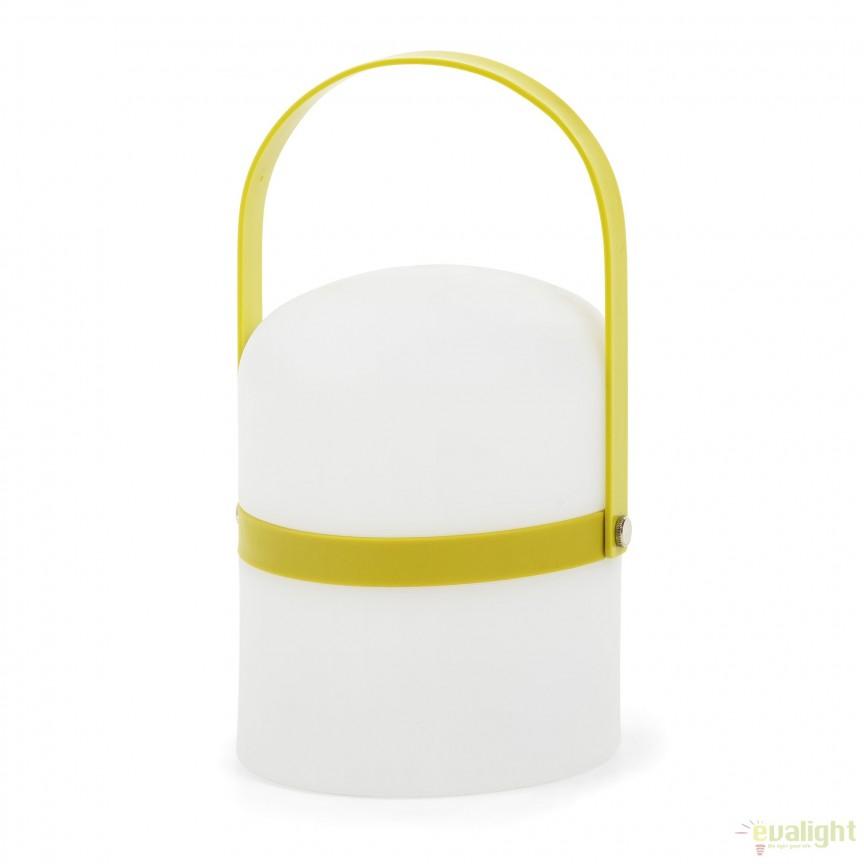 Lampa portabila LED cu protectie IP44 JANVIR, verde AA2395S06 JG, Lampi de exterior portabile , Corpuri de iluminat, lustre, aplice, veioze, lampadare, plafoniere. Mobilier si decoratiuni, oglinzi, scaune, fotolii. Oferte speciale iluminat interior si exterior. Livram in toata tara.  a