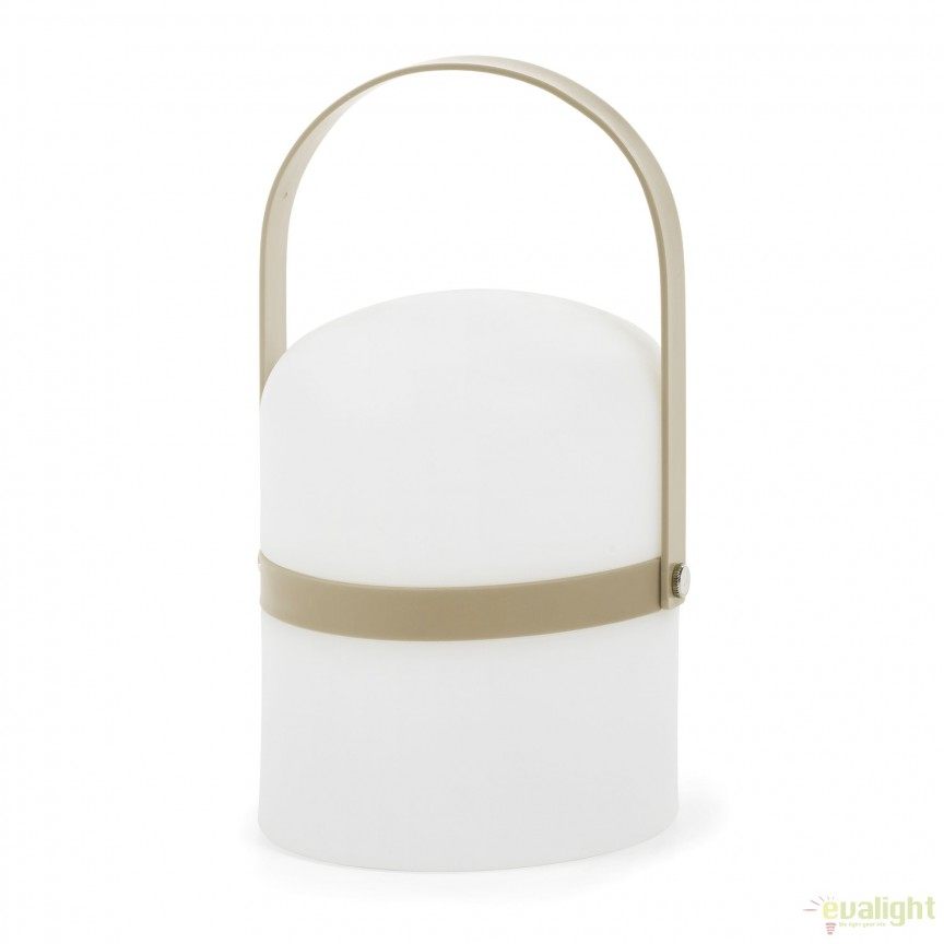 Lampa portabila LED cu protectie IP44 JANVIR, maro  AA2395S10 JG, Lampi de exterior portabile , Corpuri de iluminat, lustre, aplice, veioze, lampadare, plafoniere. Mobilier si decoratiuni, oglinzi, scaune, fotolii. Oferte speciale iluminat interior si exterior. Livram in toata tara.  a