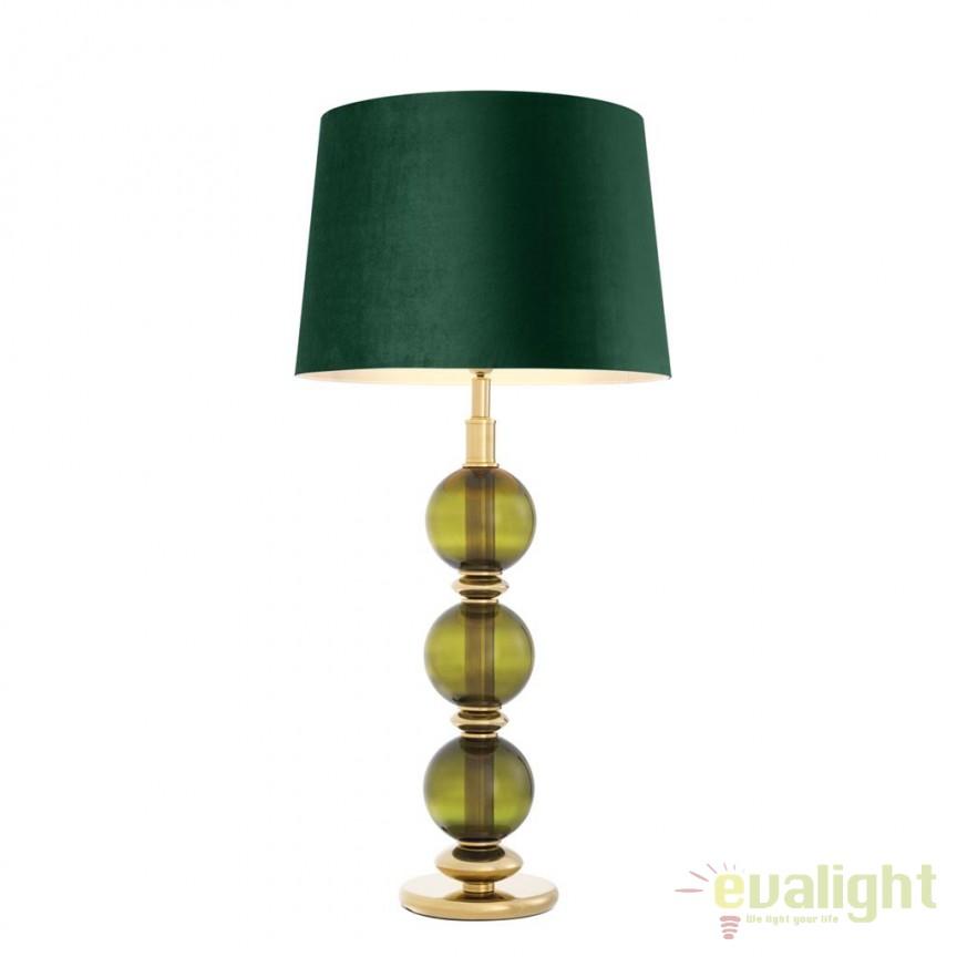 Veioza design LUX Fondoro verde 112611 HZ, Veioze, Lampi de masa, Corpuri de iluminat, lustre, aplice, veioze, lampadare, plafoniere. Mobilier si decoratiuni, oglinzi, scaune, fotolii. Oferte speciale iluminat interior si exterior. Livram in toata tara.  a