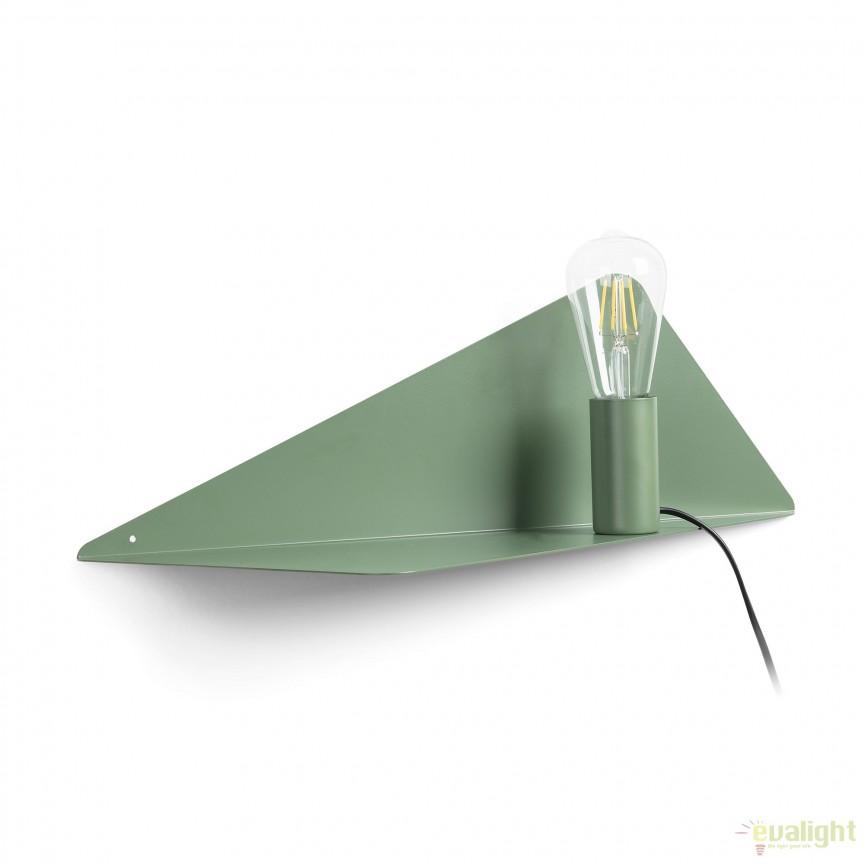 Aplica cu raft din metal PANANG, verde AA2390R19 JG, Vitrine - Rafturi, Corpuri de iluminat, lustre, aplice, veioze, lampadare, plafoniere. Mobilier si decoratiuni, oglinzi, scaune, fotolii. Oferte speciale iluminat interior si exterior. Livram in toata tara.  a