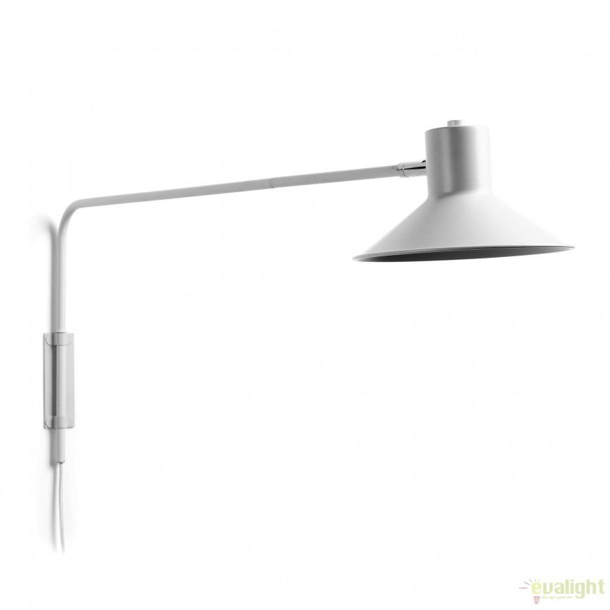 Aplica directionabila din metal PLASS, alb AA2387R05 JG, Aplice de perete moderne, Corpuri de iluminat, lustre, aplice, veioze, lampadare, plafoniere. Mobilier si decoratiuni, oglinzi, scaune, fotolii. Oferte speciale iluminat interior si exterior. Livram in toata tara.  a