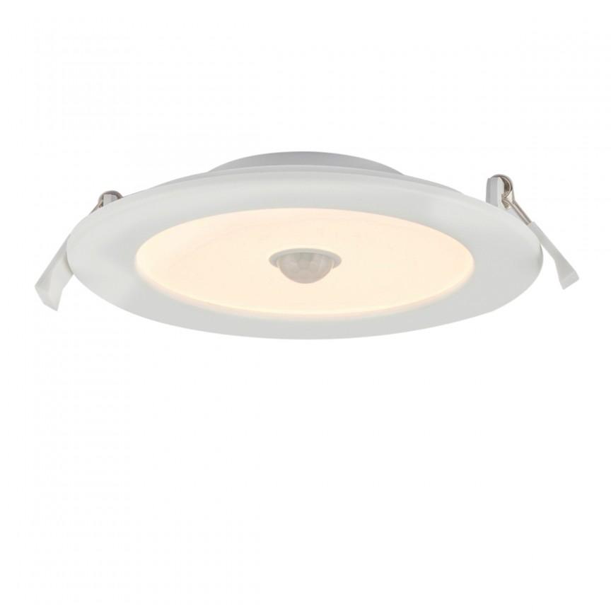 Spot LED incastrabil pentru baie IP44 cu senzor de miscare Unella Ø17cm 12391-12S GL, Spoturi LED incastrate, aplicate, Corpuri de iluminat, lustre, aplice, veioze, lampadare, plafoniere. Mobilier si decoratiuni, oglinzi, scaune, fotolii. Oferte speciale iluminat interior si exterior. Livram in toata tara.  a