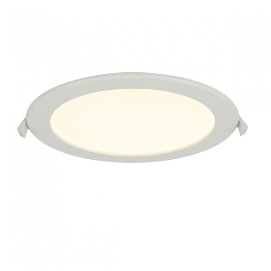 Spot LED dimabil incastrabil pentru baie IP44 POLLY Ø22cm 12392-20D GL, Spoturi LED incastrate, aplicate, Corpuri de iluminat, lustre, aplice, veioze, lampadare, plafoniere. Mobilier si decoratiuni, oglinzi, scaune, fotolii. Oferte speciale iluminat interior si exterior. Livram in toata tara.  a