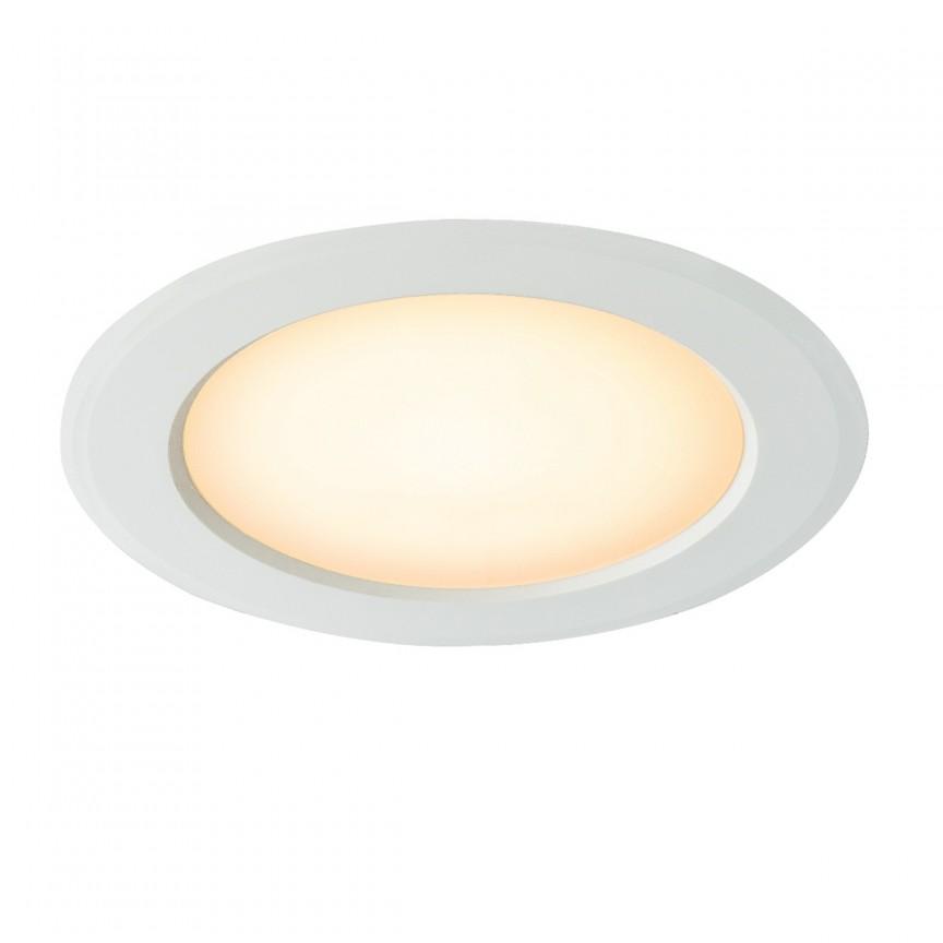 Spot LED incastrabil IP20 POLLY Ø18cm 12394-15 GL, Spoturi LED incastrate, aplicate, Corpuri de iluminat, lustre, aplice, veioze, lampadare, plafoniere. Mobilier si decoratiuni, oglinzi, scaune, fotolii. Oferte speciale iluminat interior si exterior. Livram in toata tara.  a