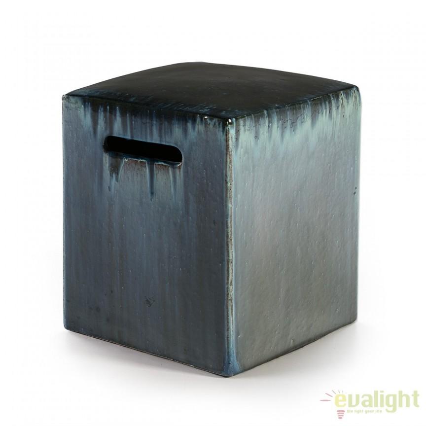 Taburete ceramic Stoneware verde 14738/00 TN, Magazin, Corpuri de iluminat, lustre, aplice, veioze, lampadare, plafoniere. Mobilier si decoratiuni, oglinzi, scaune, fotolii. Oferte speciale iluminat interior si exterior. Livram in toata tara.  a