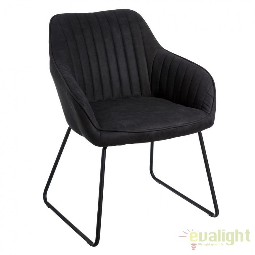 Set de 2 scaune elegante Monique, gri inchis SX-106353, Magazin, Corpuri de iluminat, lustre, aplice, veioze, lampadare, plafoniere. Mobilier si decoratiuni, oglinzi, scaune, fotolii. Oferte speciale iluminat interior si exterior. Livram in toata tara.  a