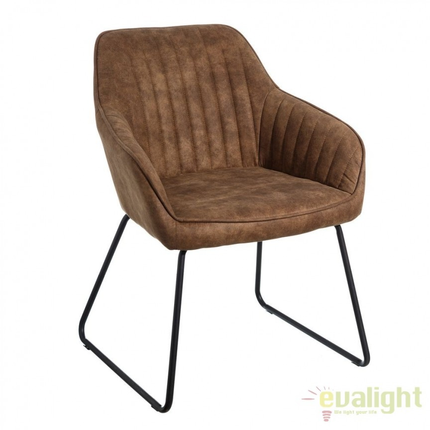 Set de 2 scaune elegante Monique, maro camel SX-106351, Magazin, Corpuri de iluminat, lustre, aplice, veioze, lampadare, plafoniere. Mobilier si decoratiuni, oglinzi, scaune, fotolii. Oferte speciale iluminat interior si exterior. Livram in toata tara.  a