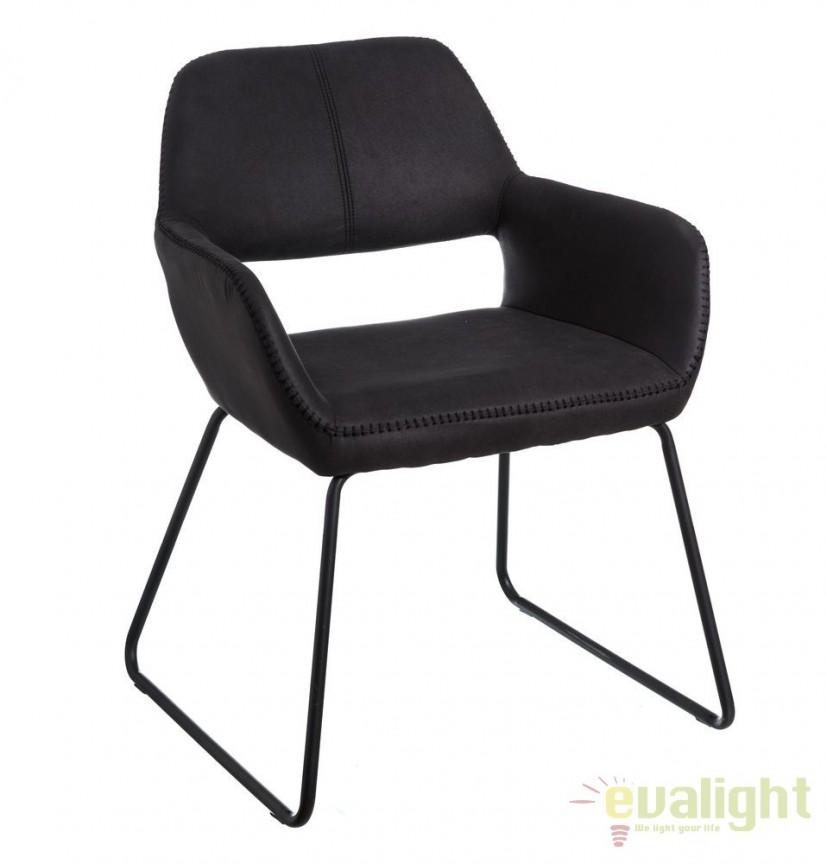 Set de 2 scaune elegante Monique, gri inchis SX-106350, Magazin, Corpuri de iluminat, lustre, aplice, veioze, lampadare, plafoniere. Mobilier si decoratiuni, oglinzi, scaune, fotolii. Oferte speciale iluminat interior si exterior. Livram in toata tara.  a