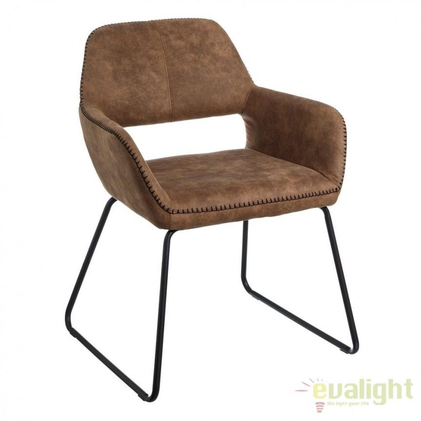 Set de 2 scaune elegante Monique, maro camel SX-106348, Magazin, Corpuri de iluminat, lustre, aplice, veioze, lampadare, plafoniere. Mobilier si decoratiuni, oglinzi, scaune, fotolii. Oferte speciale iluminat interior si exterior. Livram in toata tara.  a
