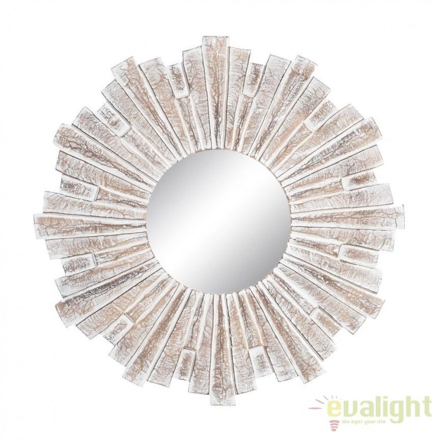 Oglinda decorativa cu rama din MDF LUSTERKO 60cm SX-105702, Mobila si Decoratiuni, Corpuri de iluminat, lustre, aplice, veioze, lampadare, plafoniere. Mobilier si decoratiuni, oglinzi, scaune, fotolii. Oferte speciale iluminat interior si exterior. Livram in toata tara.  a