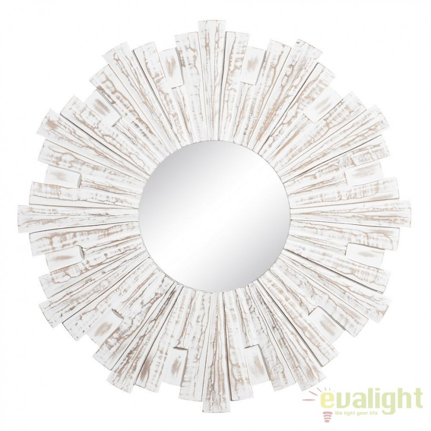 Oglinda decorativa cu rama din MDF LUSTERKO 90cm SX-105703, Mobila si Decoratiuni, Corpuri de iluminat, lustre, aplice, veioze, lampadare, plafoniere. Mobilier si decoratiuni, oglinzi, scaune, fotolii. Oferte speciale iluminat interior si exterior. Livram in toata tara.  a