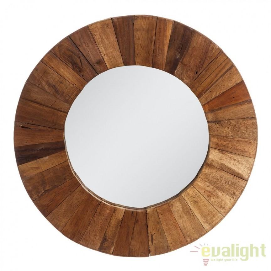 Oglinda decorativa din lemn LUSTERKO, 60cm SX-106872, Mobila si Decoratiuni, Corpuri de iluminat, lustre, aplice, veioze, lampadare, plafoniere. Mobilier si decoratiuni, oglinzi, scaune, fotolii. Oferte speciale iluminat interior si exterior. Livram in toata tara.  a
