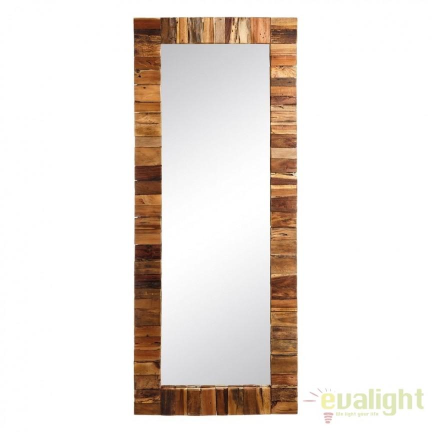 Oglinda decorativa din lemn LUSTERKO, 70x170cm SX-106873, Mobila si Decoratiuni, Corpuri de iluminat, lustre, aplice, veioze, lampadare, plafoniere. Mobilier si decoratiuni, oglinzi, scaune, fotolii. Oferte speciale iluminat interior si exterior. Livram in toata tara.  a