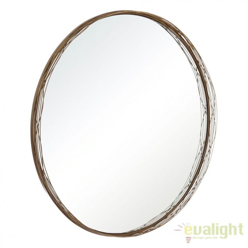 Oglinda decorativa din metal ORO, 80cm SX-106112, Mobila si Decoratiuni, Corpuri de iluminat, lustre, aplice, veioze, lampadare, plafoniere. Mobilier si decoratiuni, oglinzi, scaune, fotolii. Oferte speciale iluminat interior si exterior. Livram in toata tara.  a