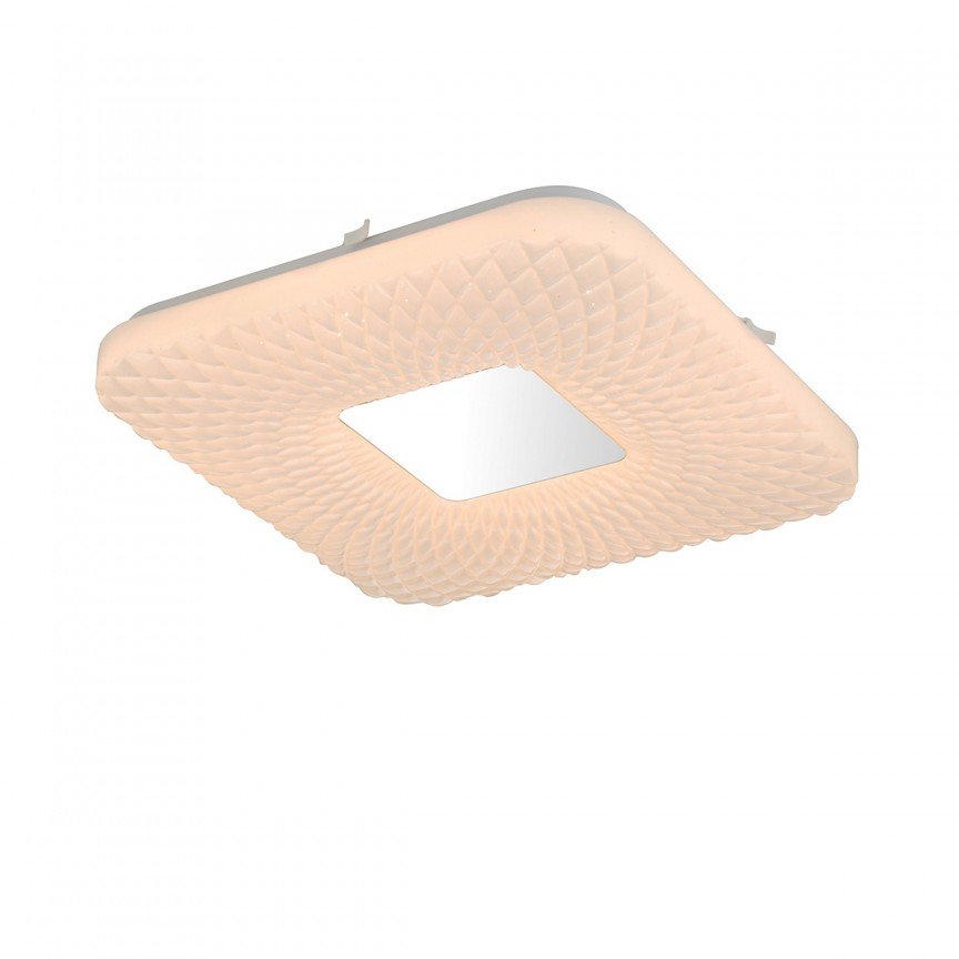 Lustra LED aplicata / Plafoniera moderna design minimalist FINDUS 33 x 33cm 41343-18 GL, CORPURI DE ILUMINAT INTERIOR MODERN, Corpuri de iluminat, lustre, aplice, veioze, lampadare, plafoniere. Mobilier si decoratiuni, oglinzi, scaune, fotolii. Oferte speciale iluminat interior si exterior. Livram in toata tara.  a
