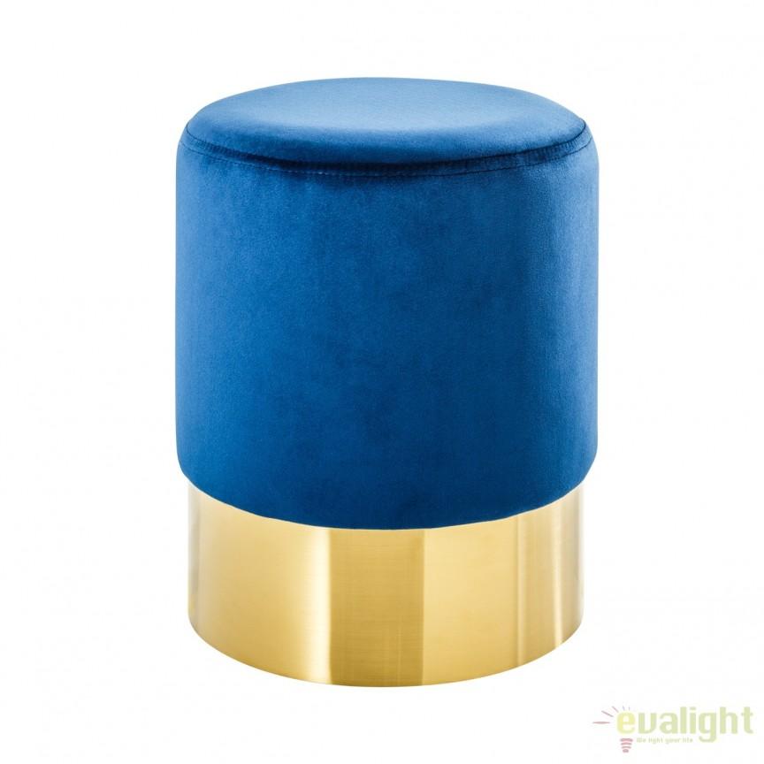 Taburete Modern Barock 35cm, albastru/ auriu A-38576 VC, Mobila si Decoratiuni, Corpuri de iluminat, lustre, aplice, veioze, lampadare, plafoniere. Mobilier si decoratiuni, oglinzi, scaune, fotolii. Oferte speciale iluminat interior si exterior. Livram in toata tara.  a